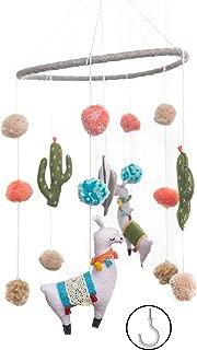 Baby Crib Mobile by Joey Co. | Felt Llama Mobile | Felt Baby Crib Mobile | Simple, Minimalist, Fun Baby Nursery and Baby Crib Decoration