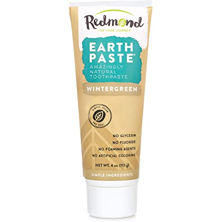 Product Name: REDMOND - Earthpaste All Natural Non-Fluoride Vegan Non GMO Real Ingredients Toothpaste, Wintergreen, 4 Ounce Tube (1 Pack)