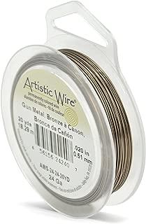 Artistic Wire 24-Gauge Antique Brass, 20-Yards