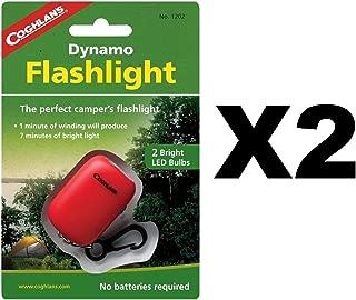 Coghlan's Dynamo Flashlight LED Hand Crank Emergency Light w/Clip (2-Pack)