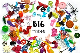 TomToy Big Mixed trinkets for I spy Sensory Bins, Kids Crafts, Learning Activities, Miniatures, 3-7cm, Set of 20