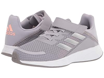 adidas Kids Duramo SL (Little Kid) (Glory Grey/Silver Metallic/Light Flash Orange) Girls Shoes