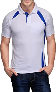 Scott International Men's Jersey Collar Neck Sports Dryfit T-Shirt - White