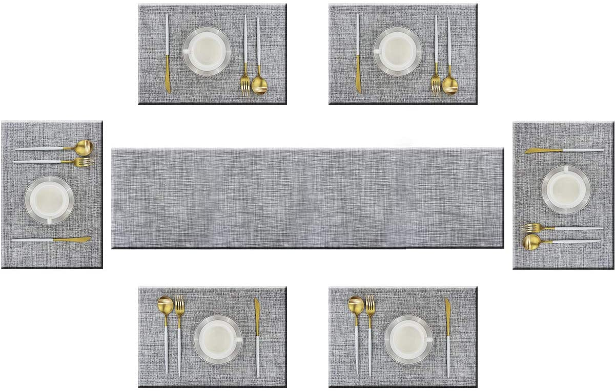 2021 spring and summer new Bright Max 54% OFF Dream Table Runner and Placemats of Kits Moder 6 Long Set