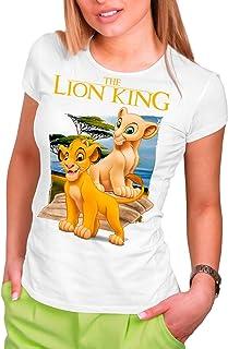 Camiseta Cine Mujer El Rey León, Simba y Nala