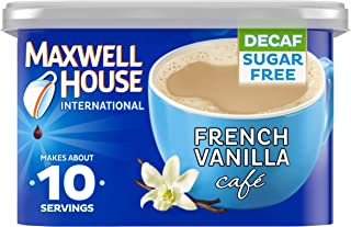 Maxwell House International French Vanilla Decaf Sugar Free Cafe Beverage Mix, 4 oz Canister