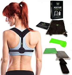 Posture Corrector for Men & Women - Upper Back Brace - Comfortable & Adjustable Back Straightener to Correct Hunching & Slouching - Pain Relief from Neck, Back & Shoulder Provide Clavicle Support