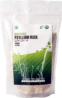 Down To Earth Organic Psyllium Husk, 200 gm