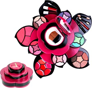 Makeup Kits Flower Make Up Pallete Gift Set for Teen Girls and Women - Petals Expand to 3 Tiers -Variety Shade Array - Ful...
