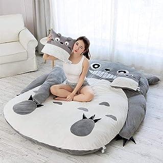 Plysch Totoro sovsäck Barnmadrass, tecknad Totoro Tatami Lazy plysch sovkudde Söt sovsäck Bäddsoffa,001,120 * 80cm