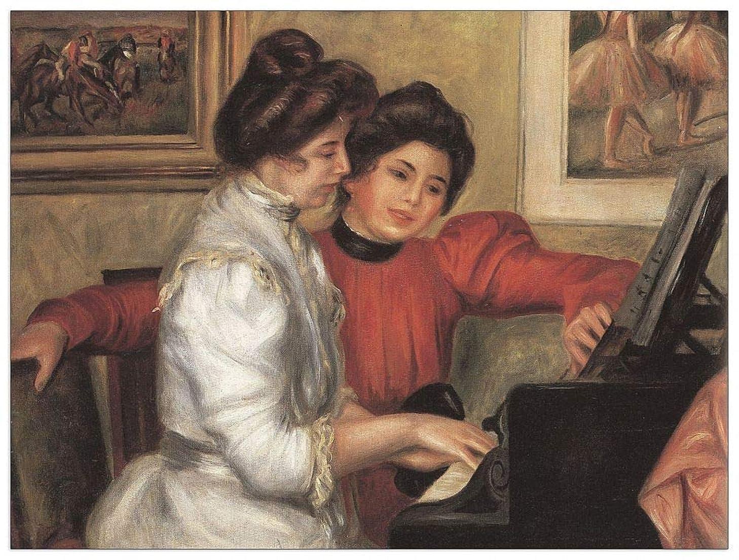 ArtPlaza TW92827 Renoir Pierre-Auguste-Yvonne and Christine Lerolle at The Piano Decorative Panel, 35.5x27.5 Inch, Multicolored