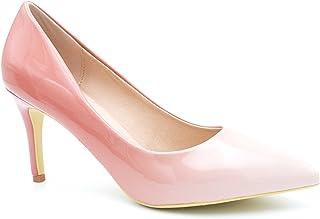 d06d44013593be Escarpin Femme Vernis - Chaussure Escarpin Dégradées Talon Fin - Talon  Moyen Sexy Hauteur 5CM 8CM