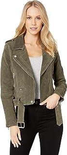 [BLANKNYC] Women's Suede Moto Jacket Outerwear