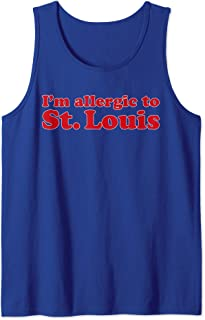 I'm Allergic To St. Louis | Funny Chicago Baseball T-shirt Tank Top