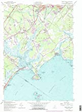 YellowMaps Prouts Neck ME topo map, 1:24000 Scale, 7.5 X 7.5 Minute, Historical, 1957, Updated 1978, 26.9 x 21.5 in
