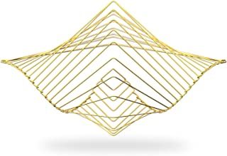 Square Wave | The Mesmerizing Kinetic Wind Spinner | Magical Calming Art Piece by Ivan Black (Gold)