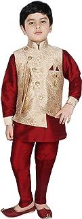 SG YUVRAJ Pathani Kurta Pents with Jacket For Boys(UP-GD-158)
