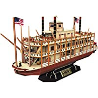 CubicFun Worldwide Trading Mississippi Steamboat Ship 3D Puzzle