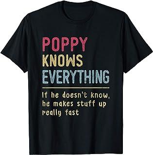 Mens Poppy Know Everything - Grandpa Gift T-Shirt