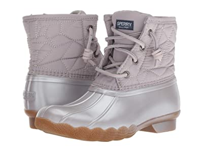 Sperry Kids Saltwater Boot (Little Kid/Big Kid) (Gull Grey Synthetic) Girls Shoes