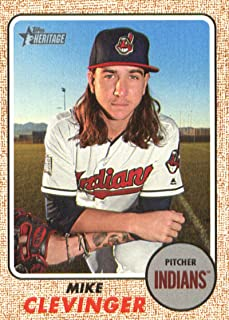 2017 Topps Heritage High Numbers #649 Mike Clevinger Cleveland Indians Baseball Card