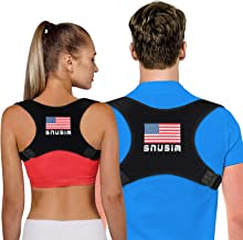 Posture Corrector for Men and Women, USA Designed - Adjustable Upper Back Brace for Clavicle Support and Providing Pain Re...