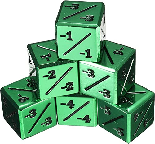 precios al por mayor DADEQISH MTG + 1   + 1 y y y -1   -1 dados combinados Paquete combinado de 6 piezas Hedral 12d6 Magic  The Gathering TCG CCG Accesorios para herramientas  alta calidad