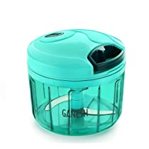 [LD] Ganesh Plastic Vegetable Chopper Cutter, Pool Green (725 ml)