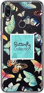 Oihxse Silicone Transparente Case avec Motif Papillon Compatible pour Nokia 2.2 Coque Souple TPU Gel Mode 3D Dessin Étui U...