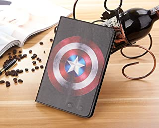 Case for iPad Pro 9.7 inch 2017/2018 iPad 5/6 iPad Air/Air2, Zakao Cartoon Super Heroes Cute Flip Stand PU Leather Lightweight Shockproof Kids Proof Protective Case for Apple iPad 5 6 7 8 (#27)