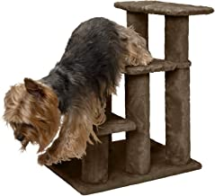 Furhaven Pet Stairs | Steady Paws Easy Multi-Step Furniture Pet Stairs Assist Ramp for Dogs & Cats - Available in Multiple Colors & Sizes