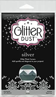 (Silver) - Therm O Web Glitter Dust Photo Corners silver pack of 84