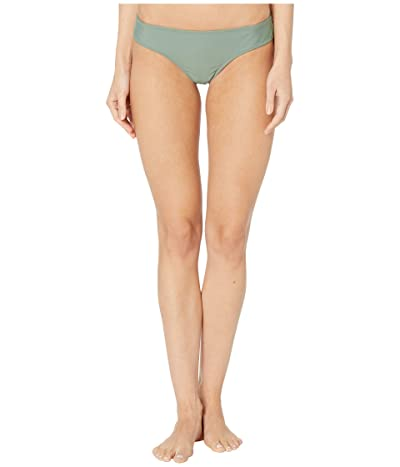 Volcom Simply Solid Cheeky Bottoms (Dark Green) Women
