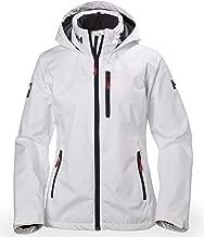 Helly Hansen Women's Crew Lightweight Waterproof Windproof Breathable Sailing Rain Coat Jacket with Stowable Hood