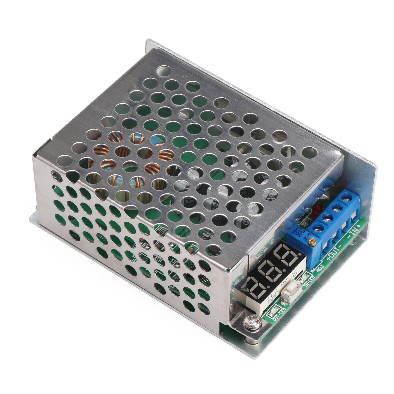 降圧 コンバーター DROK DC-DC 降圧的なコンバータ 3.5-30V?0.8-29V 10A 降圧型電圧 調整可能な出力レギュレータ モジュール 高精度電圧計付き 電源レッドデジタル 二重な表示