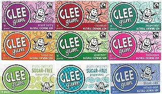 Glee Gum 9 Flavor Variety Pack - ( One of Each)