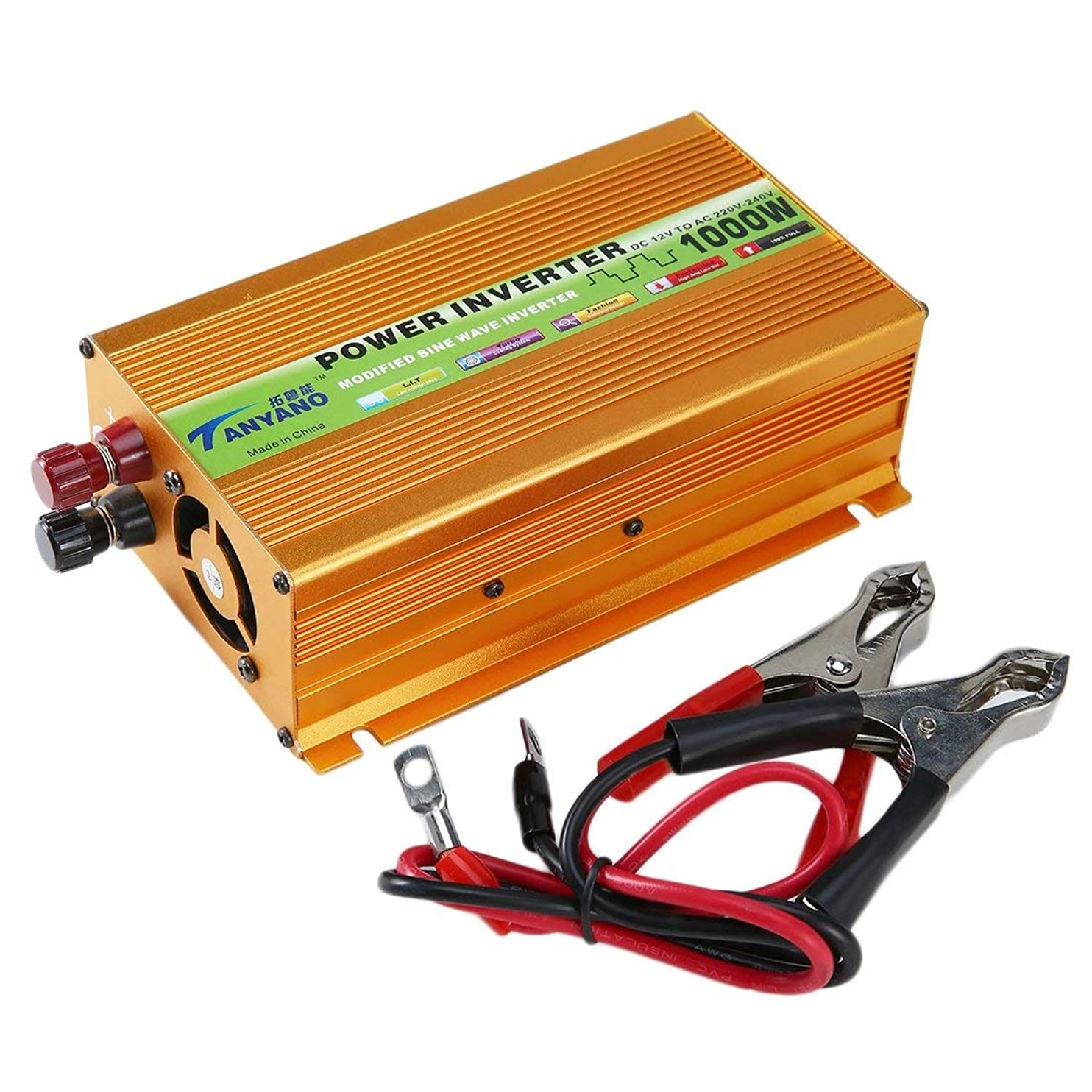 意気消沈したアジャ一時解雇するSwiftgood 車の電源インバーター正弦波電源インバーターDC 12 vにAC 220 v USBアダプターポータブル電圧変圧器車の充電器