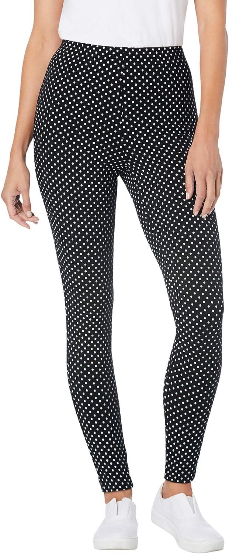 Woman Within Women's Plus Size Petite Stretch Cotton Printed Legging