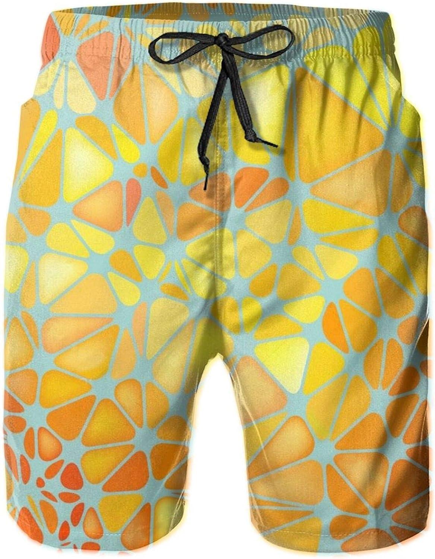 Jiulong Popular product Abstract Mosaic Orange Board Sw Pants Short Beach Quality inspection Shorts