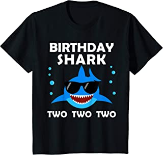 Kids 2nd Birthday Boy Shark Two Matching Party Gifts for Kids T-Shirt