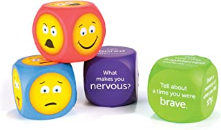 Learning Resources Soft Foam Emoji Cubes, Conversation Cubes for Kids, Set of 4, Ages 3+