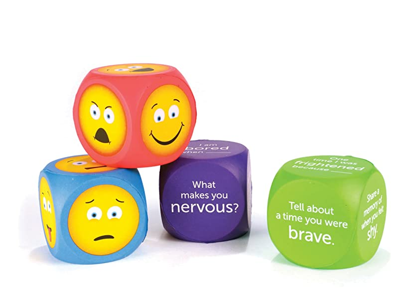Learning Resources Soft Foam Emoji Cubes, 4 Pieces