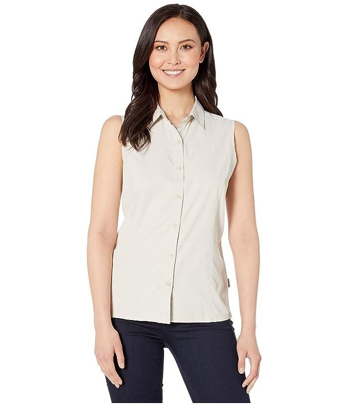 White Sierra Gobi Desert Sleeveless Shirt (Stone) Women