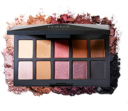 HAUS LABORATORIES By Lady Gaga: GLAM ROOM PALETTE NO. 1: FAME | 10-Shade Eyeshadow Palette, Blendable & Buildable Eye...