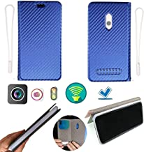 Ojtong Case for Cubot King Kong Mini Case Silicone Protection Ring + Flip Cover Stand Shell Blue