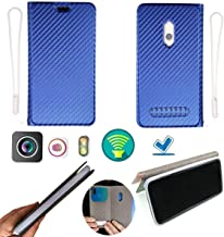 Case for Blu G9 Pro G0230ww Case Silicone Protection Ring + Flip Cover Stand Shell Blue