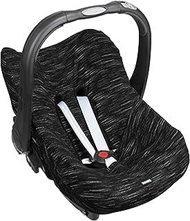 Dooky Seat Cover 0+ Matrix Cubierta para el asiento de coche del bebé (para sistema de cinturón de 3 y 5 puntos, grupo de edad 0+, adecuado para la mayoría de las marcas), Negro