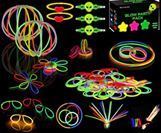 Premium Glow Stick Bracelets Party Pack -234 Pieces Glow Sticks Bulk 8'' Glow sticks Box -Glow Bracelets Glow Necklaces Glow Balls Glow Headbands Set, Glow-In-The-Dark Light-up Party Favors Pack for Concert, Festivals, Birthdays, Party Supplies, Weddings, Give Aways