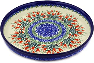 Polish Pottery Cookie Platter 10-inch Sprouting Tulips