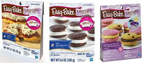 InterC Set of 3 Easy-Bake Oven Mixes Refills -Pizza, Chocolate Chip and Sugar Cookies, Whoopie Pies